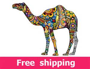 Moroccan Wall Stickers abstract camel wall decal colorful camel wall sticker camel