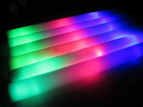 stick on led lights 3 pcs light up foam stick led multi color flashing rally