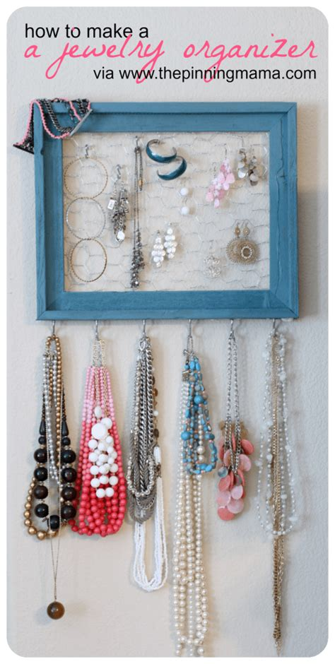 how to make jewelry holder diy how to make a jewelry organizer the pinning