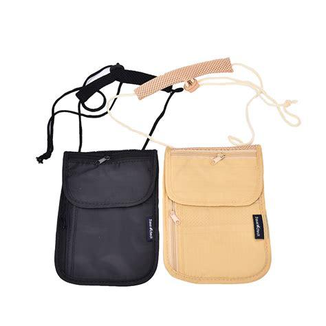 Pouch Tas Kosmetik Longch Promo 18 unisex money purse neck purse wallet travel storage bag money coin cards passport holder