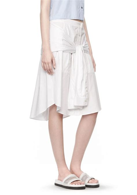 Strapped Skirt wang cotton poplin sleeve skirt skirt official site
