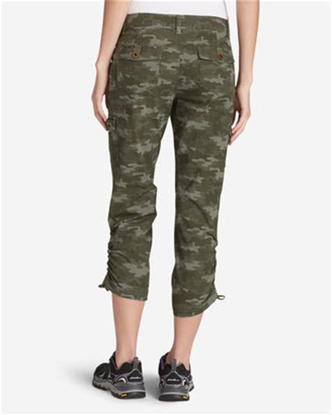 women stretch cargo pants shopstyle eddie bauer women s adventurer 174 stretch ripstop cropped
