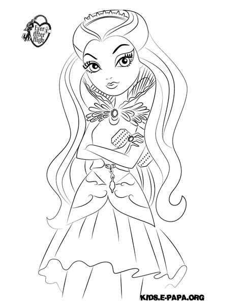 coloring pages raven queen ever after raven queen coloring pages