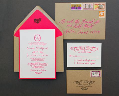 diy wedding invitations diy tutorial neon kraft paper wedding invitations