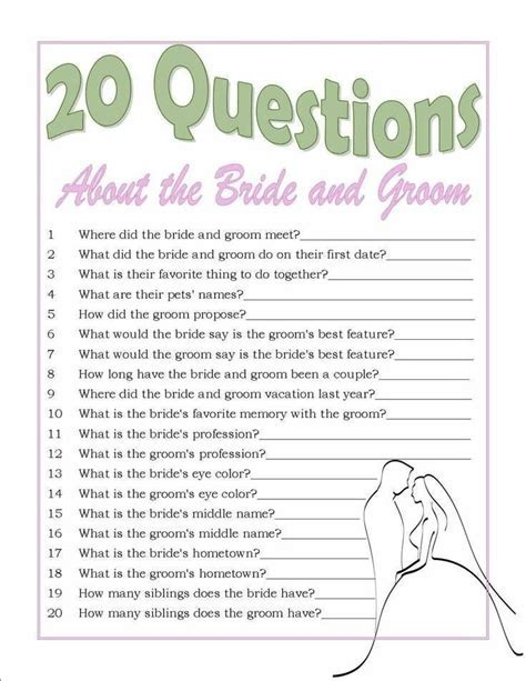 Bridal Shower Games Questions To Ask The Groom   Wedding Ideas
