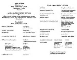 eagle court of honor program template eagle scout ceremony programs templates eagle scout
