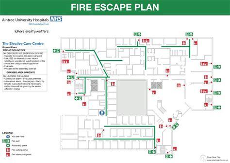 fire emergency evacuation plan  fire procedure sign
