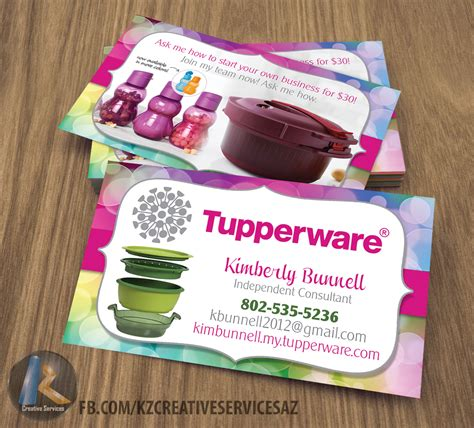 tupperware business cards template tupperware business cards style 4 183 kz creative services