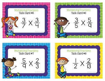 multiplying fractions using cards template fraction task cards multiplying fractions by alvis tpt