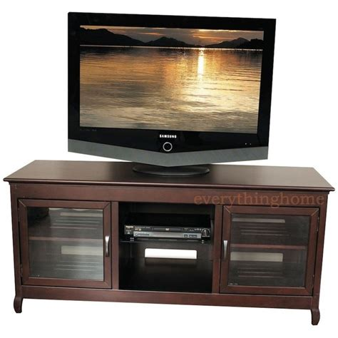 Tv Credenzas Solid Wood 62 quot wide hi boy credenza a v espresso tv stand solid wood veneer modern design ebay