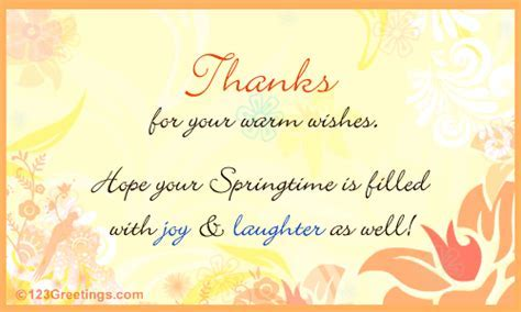 Reciprocate The Greetings  Free Thank You eCards