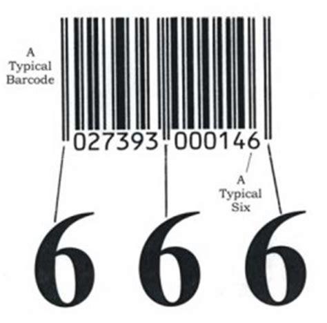 barcode tattoo satanic 666