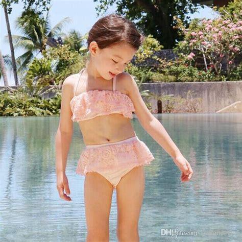 Playmat 3m X 3m Pre Order 2018 children swimsuit summer falbala lace