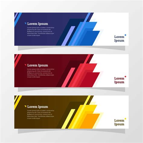 abstract geometric banner   vectors clipart graphics vector art