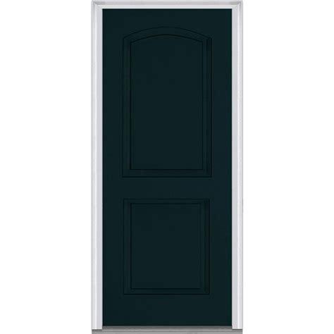 5 Panel Exterior Door Milliken Millwork 37 5 In X 81 75 In 2 Panel Archtop Painted Fiberglass Smooth Exterior Door