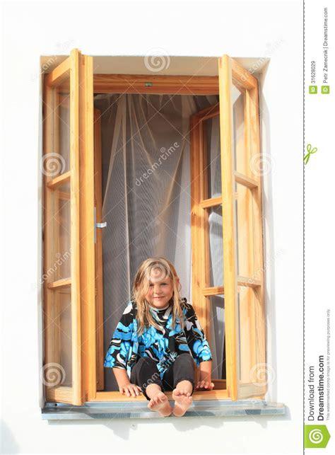 sitting window sitting on the window stock image image of barefeet 31628029