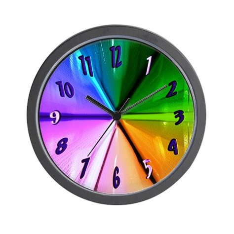cool clock gotta be different cool clocks wall clock by cosmeticplastic