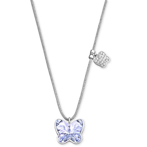 Necklace Pegasus Swarovski Silver Rhodium lyst swarovski rhodiumplated provence lavender butterfly pendant necklace in purple