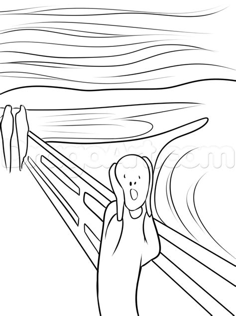 how to draw like how to draw the scream the scream of nature step by step