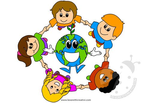 di bambini giornata della terra disegno di bambini con pianeta terra