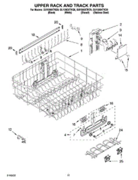 whirlpool dishwasher rack parts parts for whirlpool gu1500xtks0 dishwasher appliancepartspros com
