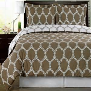 Comforter Sets Taupe Brooksfield Taupe Reversible Cotton Comforter Set Free