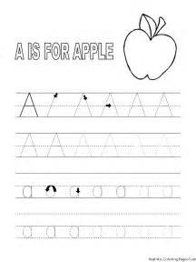 Galerry alphabet tracing coloring worksheets