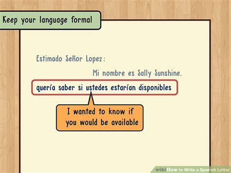 layout of a spanish letter how to write a spanish letter 14 steps with pictures