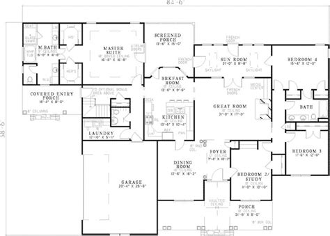 robard country home plan 111d 0015 house plans and more claudius ranch home house plans traditional house and