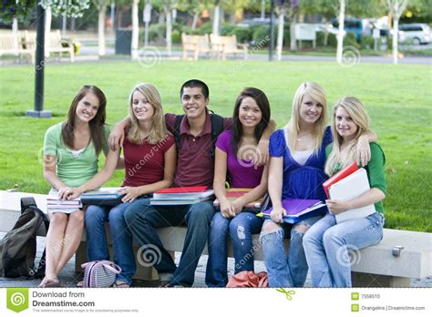 student bench students on a bench stock photo image 7558510