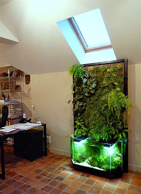 mur vegetal interieur en aquaponie mur vegetal