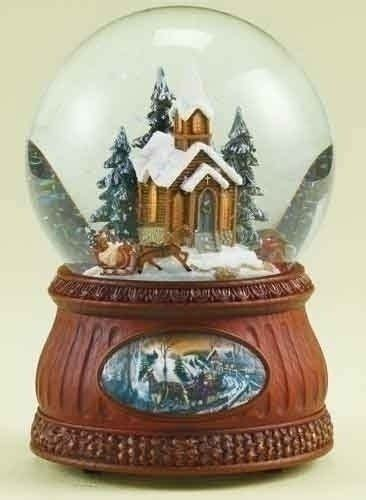 amazoncom church snow globes 44 99 55 99 from the glitterdomes collection item 35588 religious glitterdome depicts a