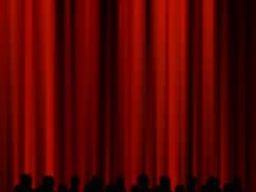 Red theatre curtains car interior design