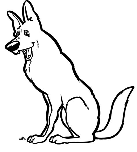 german shepherd dog coloring page az coloring pages