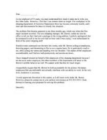 Letter Of Resignation Hostile Work Environment by Hostile Work Environment Complaint Letter