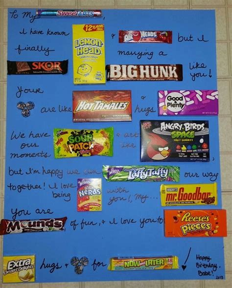 Birthday Card Made Out Bars Candy Bars Birthday Cards And Candy On Pinterest