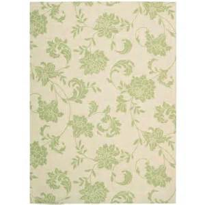 home depot outdoor rugs nourison home and garden bouquet green 10 ft x 13 ft in