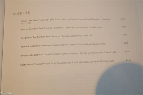 Ncl Breakaway Room Service Menu by Menu Lists And Much More Cruise With Gambee