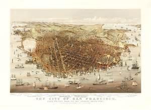san francisco map vintage vintage map san francisco california 1878