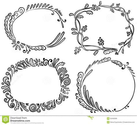 doodle frame free doodle frames stock vector illustration of modern leaves
