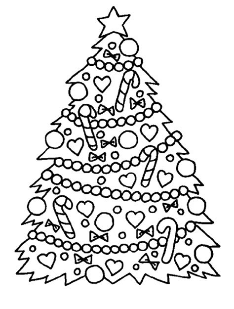 Christmas Tree Printable Coloring Pages For Preschoolers Detailed Tree Coloring Pages