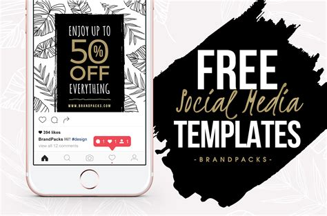 Free Social Media Templates Pack For Photoshop Illustrator Brandpacks Social Media Design Templates Free