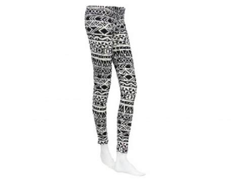 tribal pattern tights black white aztec tribal pattern leggings