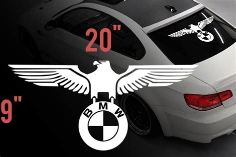 product bmw eagle german car rear window vinyl stickers decals