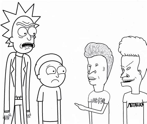 rick and morty meet beavis and butt head by kaitlynmae1985