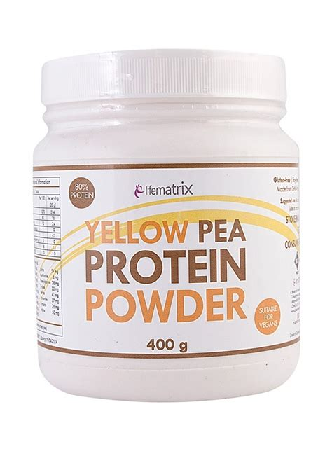 protein yellow yellow pea protein powder faithful to nature