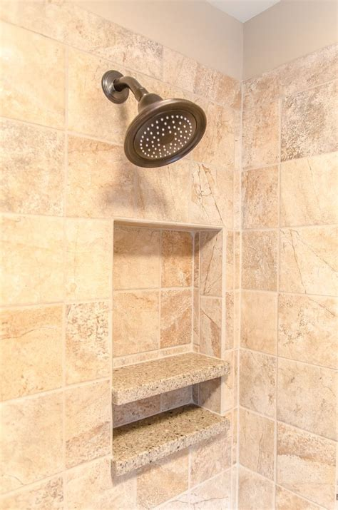 Shower Ideas For Bathroom Shower Tile And Quartz Shelving Insertshower