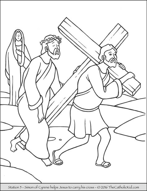 coloring pages jesus carrying cross 14 best stations of the cross coloring pages images on