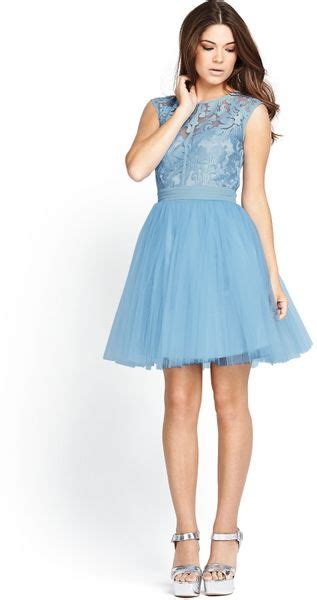 Dress Guess 2in1 2in1 lace tutu dress in blue powder blue
