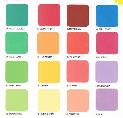 kartu warna cat tembok lippo data harga bahan bangunan